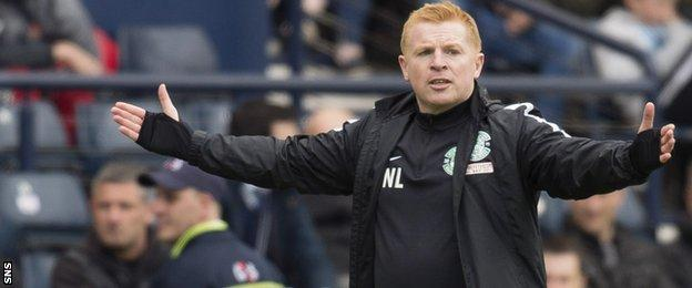 Hibernian boss Neil Lennon was unhappy with his side's display at the start of the match