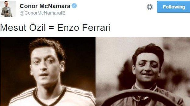 Conor McNamara tweet