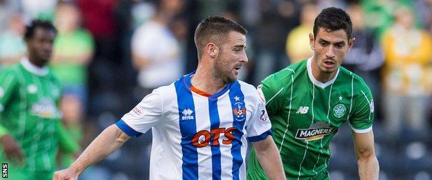 Nir Bitton in action against Kilmarnock