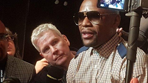 Mike Costello and Floyd Mayweather