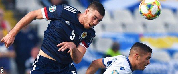 Declan Gallagher in Scotland's win over Cyprus