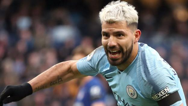 Manchester City 6-0 Chelsea: Sergio Aguero scores hat-trick as City top Premier League thumbnail