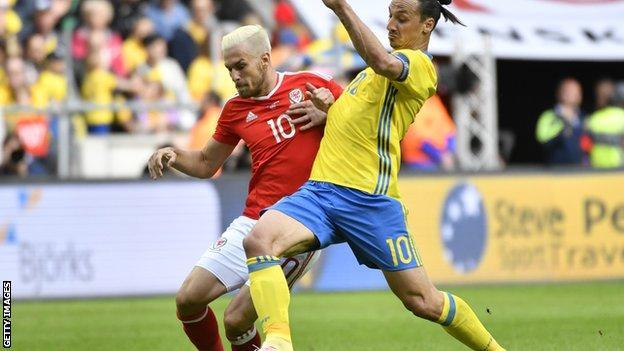 Aaron Ramsey and Zlatan Ibrahimovic