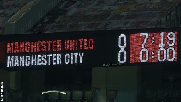Manchester United and Manchester City game ends goalless