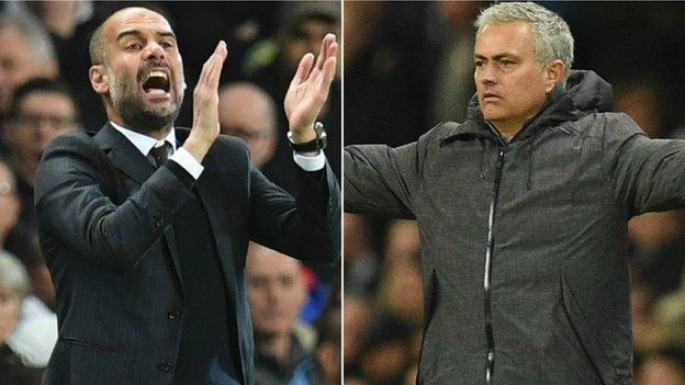 Pep Guardiola and Jose Mourinho