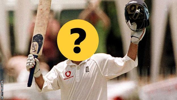 England player celebrating century against Sri Lanka in 2001