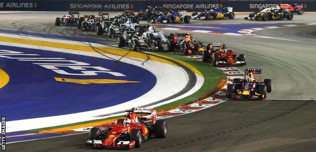 Singapore GP start 2015