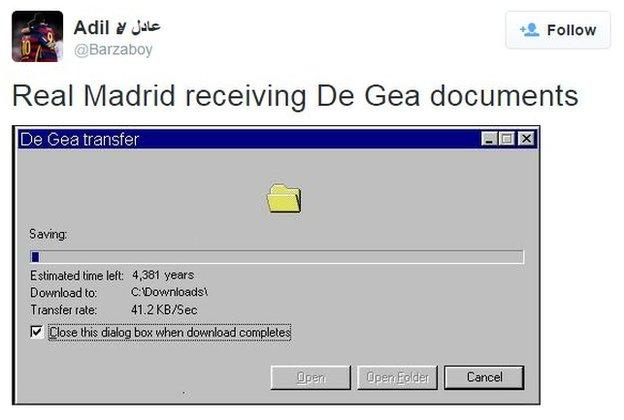 Internet reacts to De Gea saga