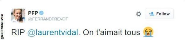 Pauline Ferrand-Prevot tweet snip
