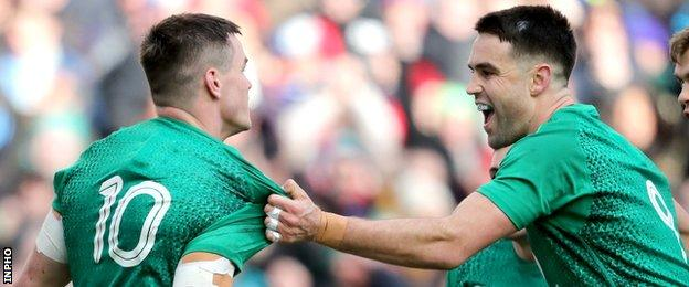 Northern Ireland Johnny Sexton and Conor Murray
