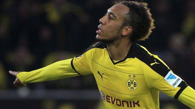 Borussia Dortmund striker Pierre-Emerick Aubameyang