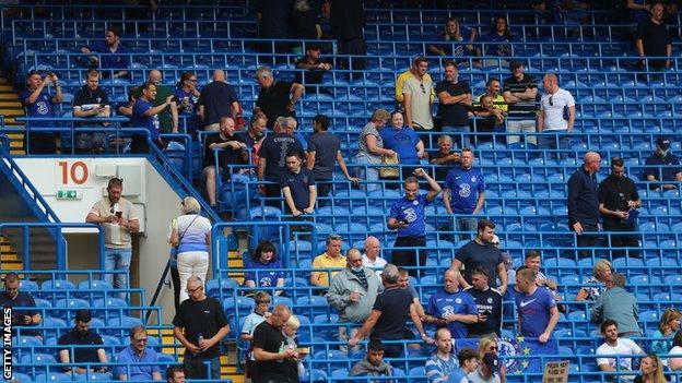 Chelsea fans at Stamford Bridge