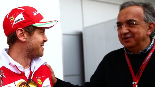Sebastian Vettel and Sergio Marchionne
