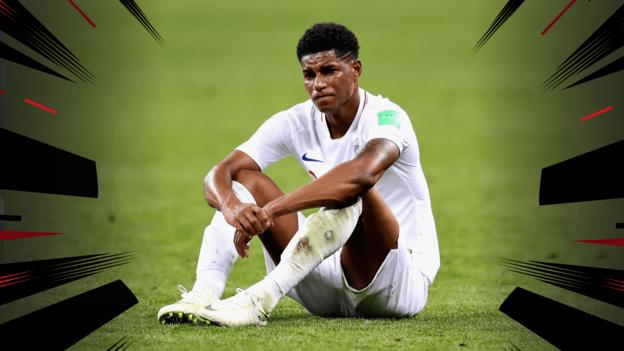 102489389 marcus rashford graphic - World Cup 2018:'English hope turns to acquainted despair'