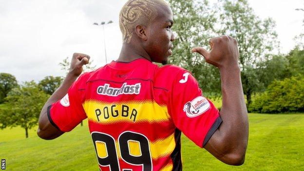 Mathias Pogba has signed a one-year deal with Partick Thistle