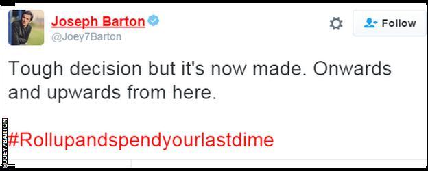 Joey Barton tweet