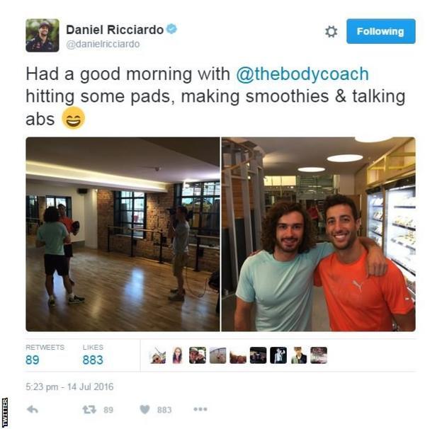 Daniel Ricciardo on Twitter