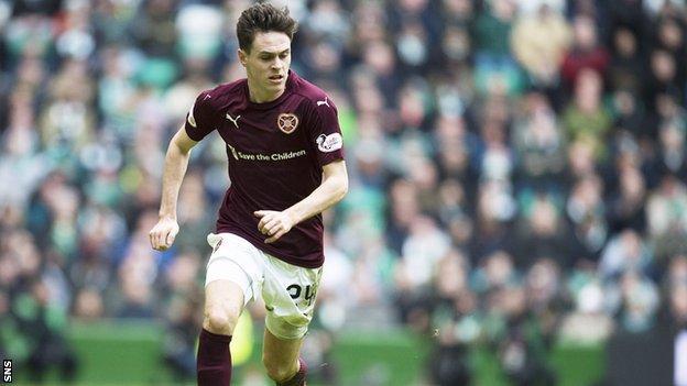 Hearts full-back Liam Smith