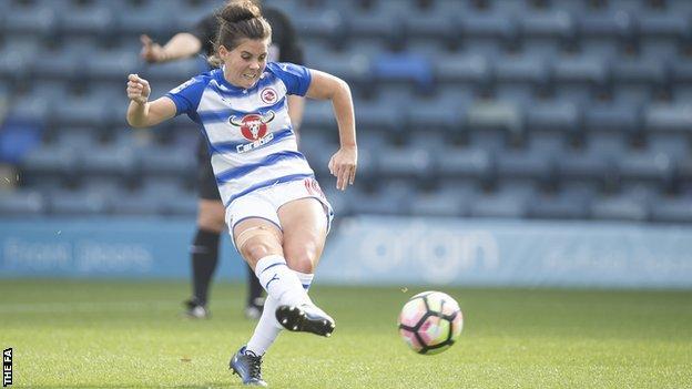 Reading Women striker Brooke Chaplen