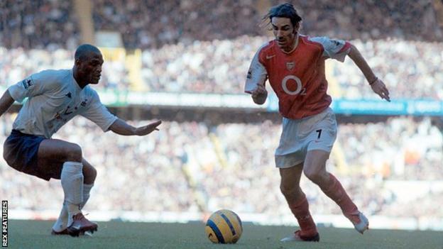 Pires scored Arsenal's fifth goal in a 5-4 win against Tottenham at White Hart Lane on 13 November 2004