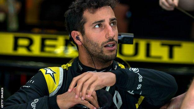 Daniel Ricciardo in his Renault F1 car