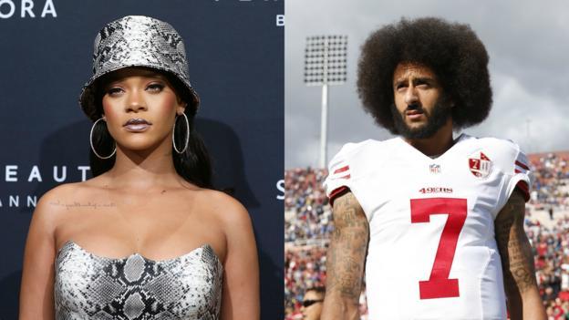Colin Kaepernick: Rihanna 'declined Super Bowl invitation in support of quarterback' thumbnail