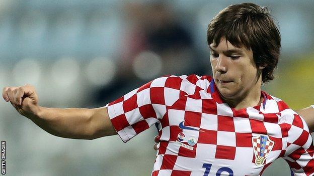 Croatia midfielder Ante Coric