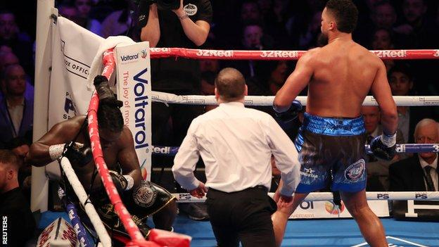 Joyce knocked Stiverne down in the third round