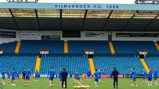Kilmarnock are due to welcome Motherwell on Friday