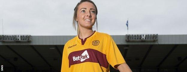 Motherwell's Sarah Crilly