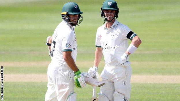 Worcestershire openers Daryl Mitchell (left) and Jake Libby both passed 50 for the third time in four Bob Willis Trophy matches