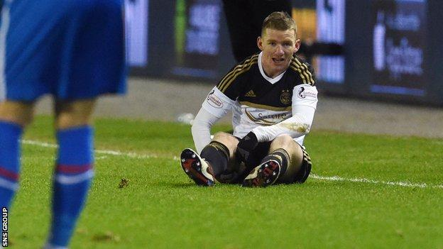 Jonny Hayes was injured during Monday's game