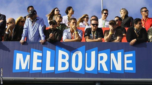 Fans at the 2015 Australian Grand Prix in Melbourne