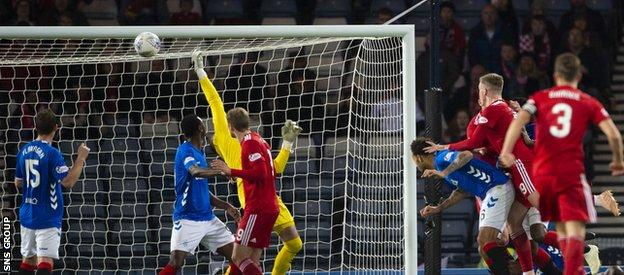 Ferguson's late header ensured Gerrard tasted defeat in his first semi-final in charge of Rangers