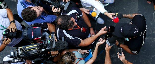 Prior to the start of practice, Lewis Hamilton attracted more than his usual amount of media attention, after revealing he was in a minor car accident in Monaco on Monday night