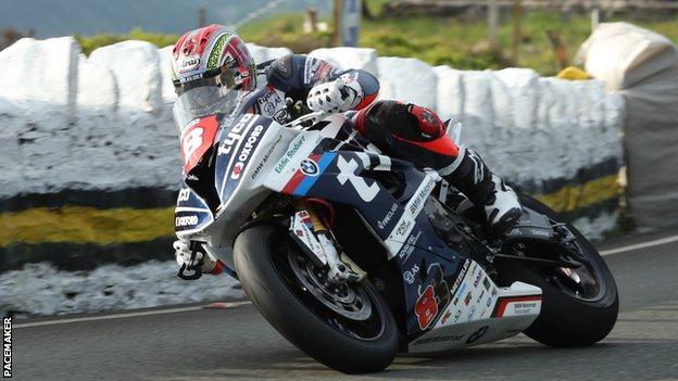 Dan Kneen at the Isle of Man TT
