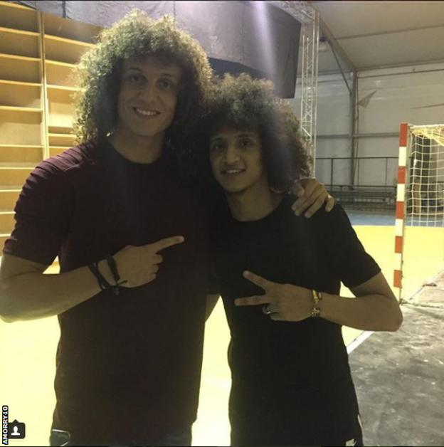 David Luiz and Omar Abdulrahman