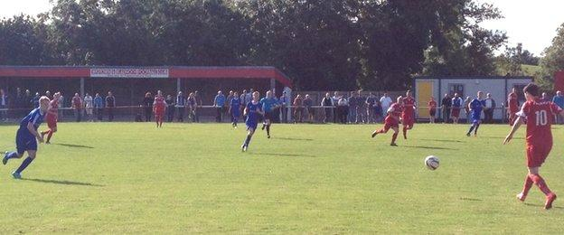 Hawick Royal Albert (in blue) never trailed in a match they won 3-2