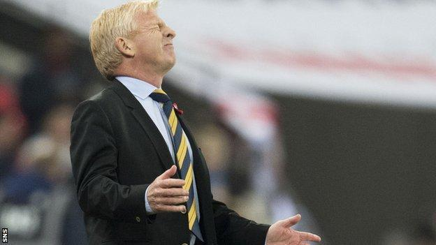 Scotland boss Gordon Strachan has endured a frustrating start to the qualifying campaign