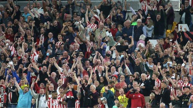 Les fans de Brentford