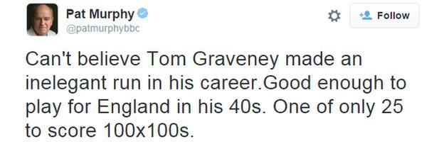 Tweet from Pat Murphy