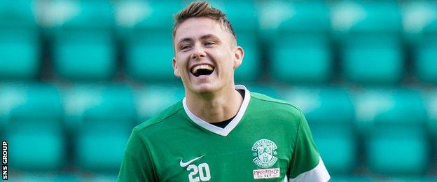 Scott Allan moved to Easter Road on a free transfer last summer