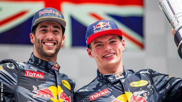 Ricciardo and Verstappen