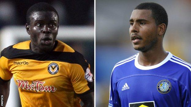 Ismail Yakubu and Keiran Murtagh