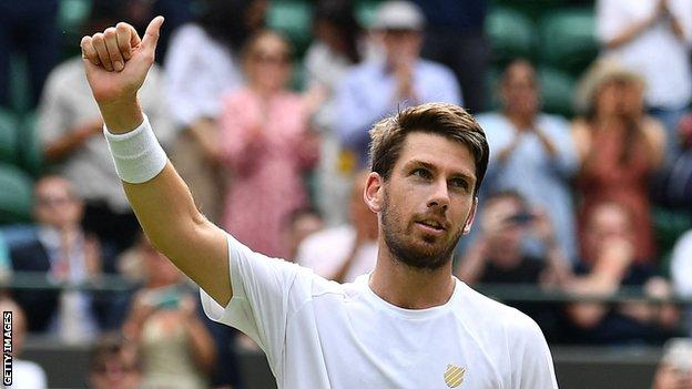 Norrie gives a thumbs-up
