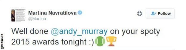 Martina Navratilova tweet snip