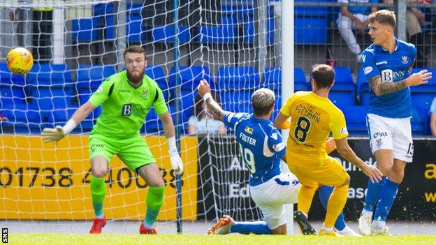 St Johnstone came from 2-0 down to draw with Livingston in their last game