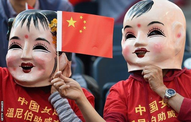 China fans during the Fifa Women's World Cup