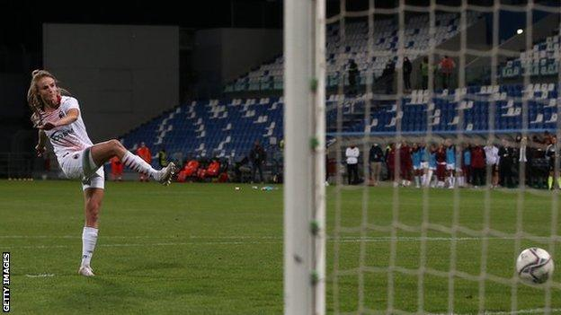 Christy Grimshaw missed from the spot as the Coppa Italia final against Roma went to penalties