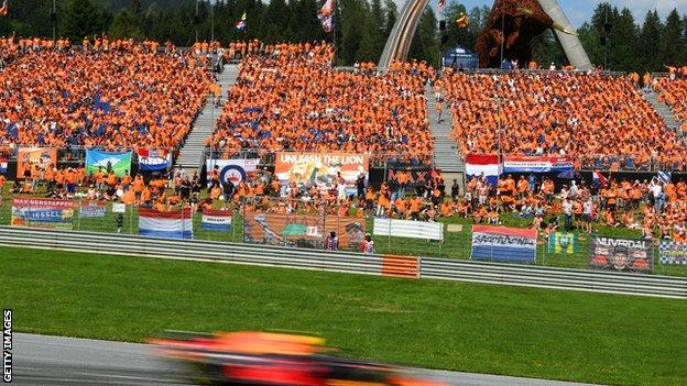 Max Verstappen at the Austrian Grand Prix